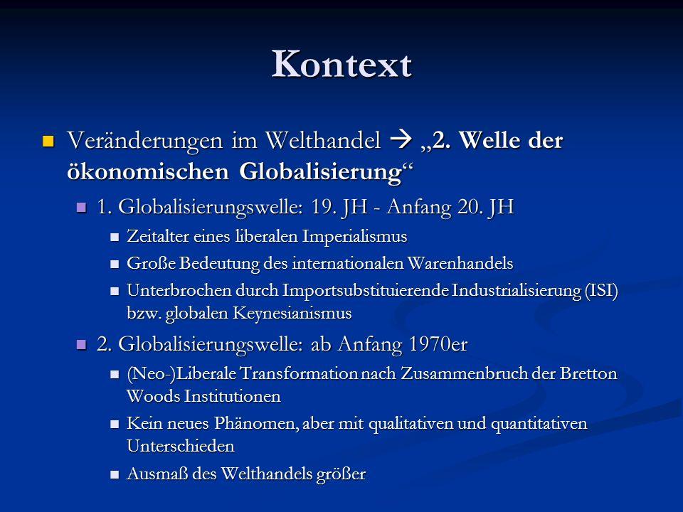 Kontext Veränderungen im Welthandel 2.