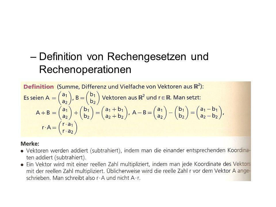 –Definition von Rechengesetzen und Rechenoperationen