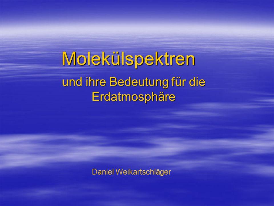 Molekülspektren und ihre Bedeutung für die Erdatmosphäre Daniel Weikartschläger