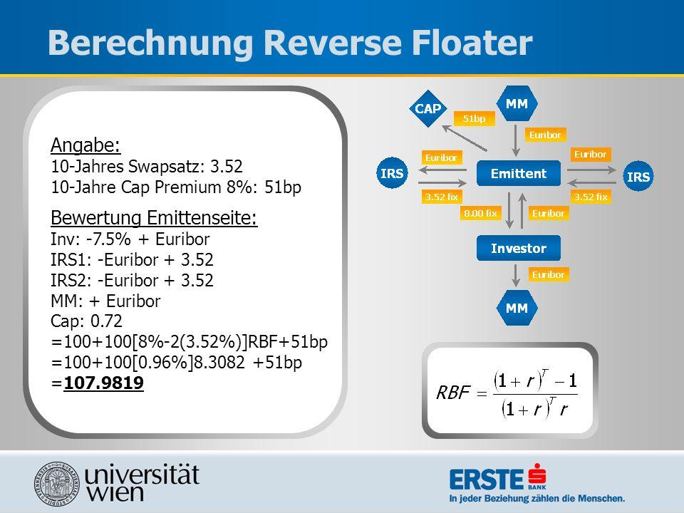 Reverse Floater mit NumeriX