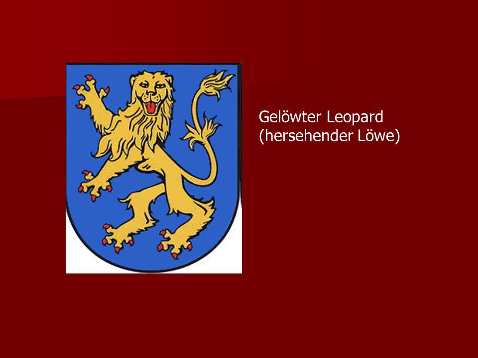 Gelöwter Leopard (hersehender Löwe)