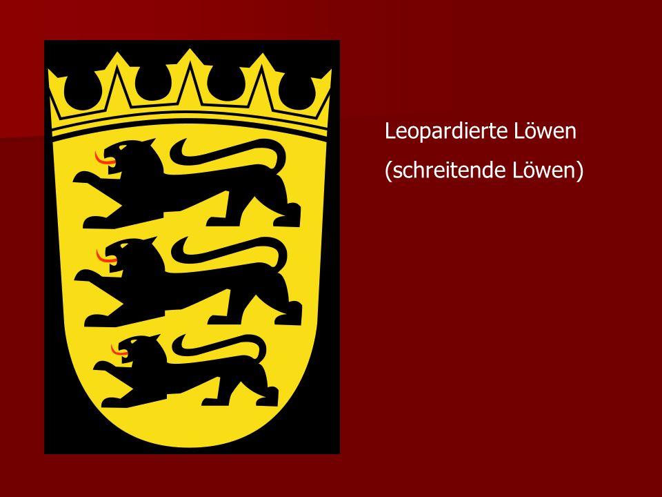 Leopardierte Löwen (schreitende Löwen)