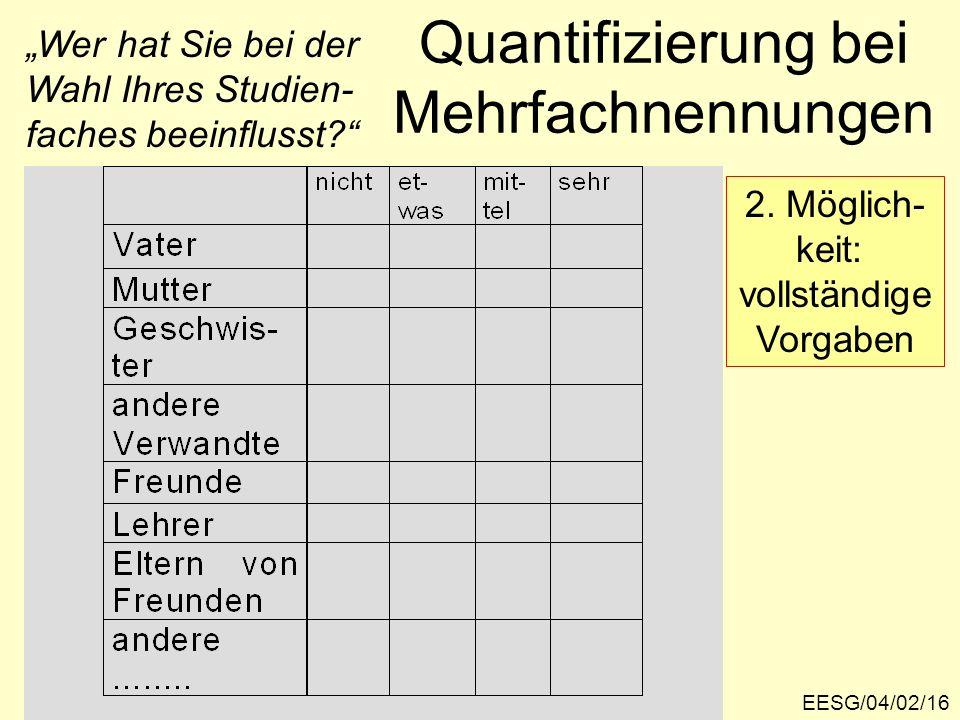 EESG/04/02/16 Quantifizierung bei Mehrfachnennungen 2.