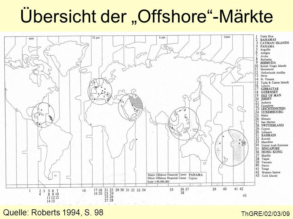 Quelle: Roberts 1994, S. 98 Übersicht der Offshore-Märkte ThGRE/02/03/09
