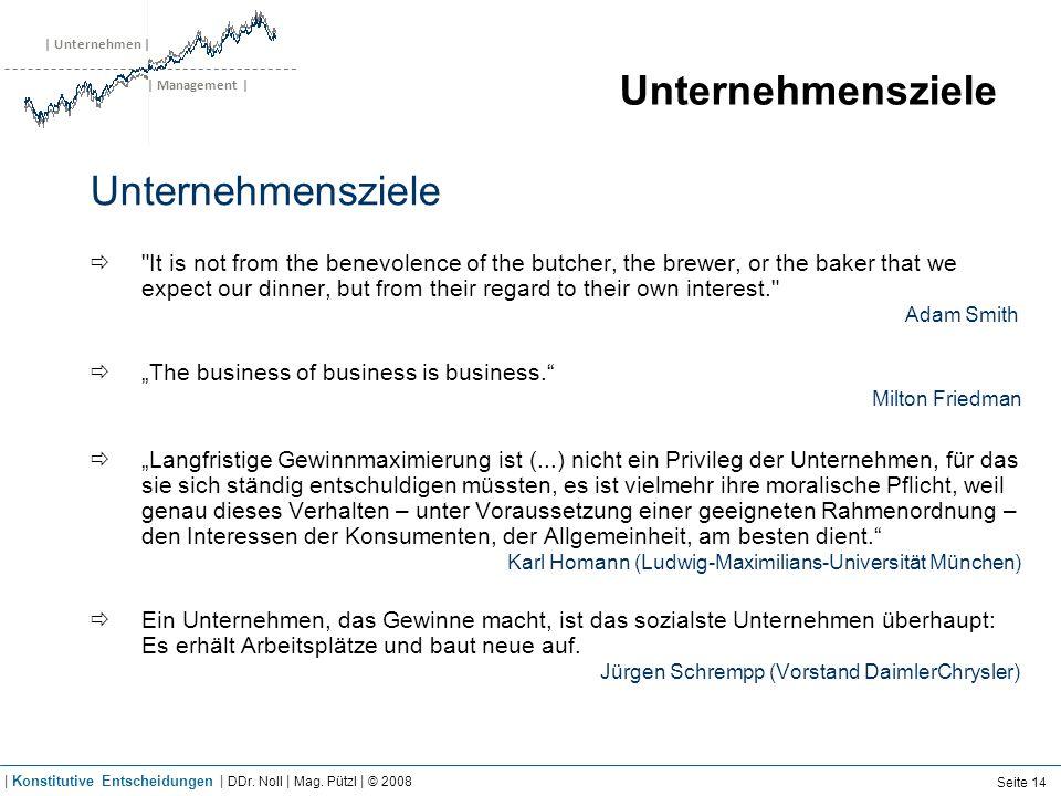 | Unternehmen | | Management | Unternehmensziele