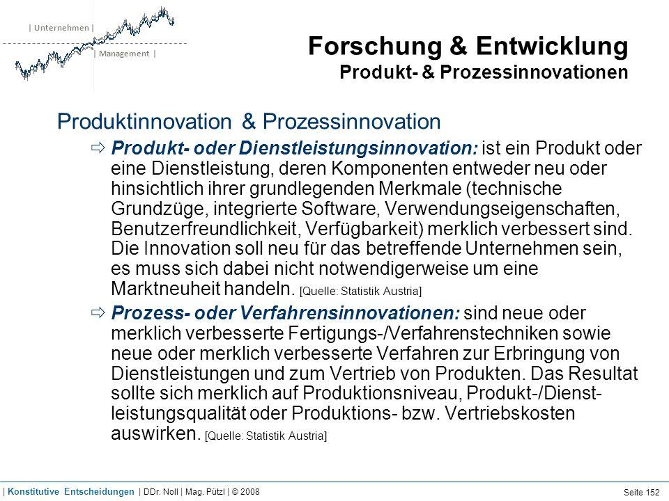 | Unternehmen | | Management | Forschung & Entwicklung Produkt- & Prozessinnovationen Produktinnovation & Prozessinnovation Produkt- oder Dienstleistu