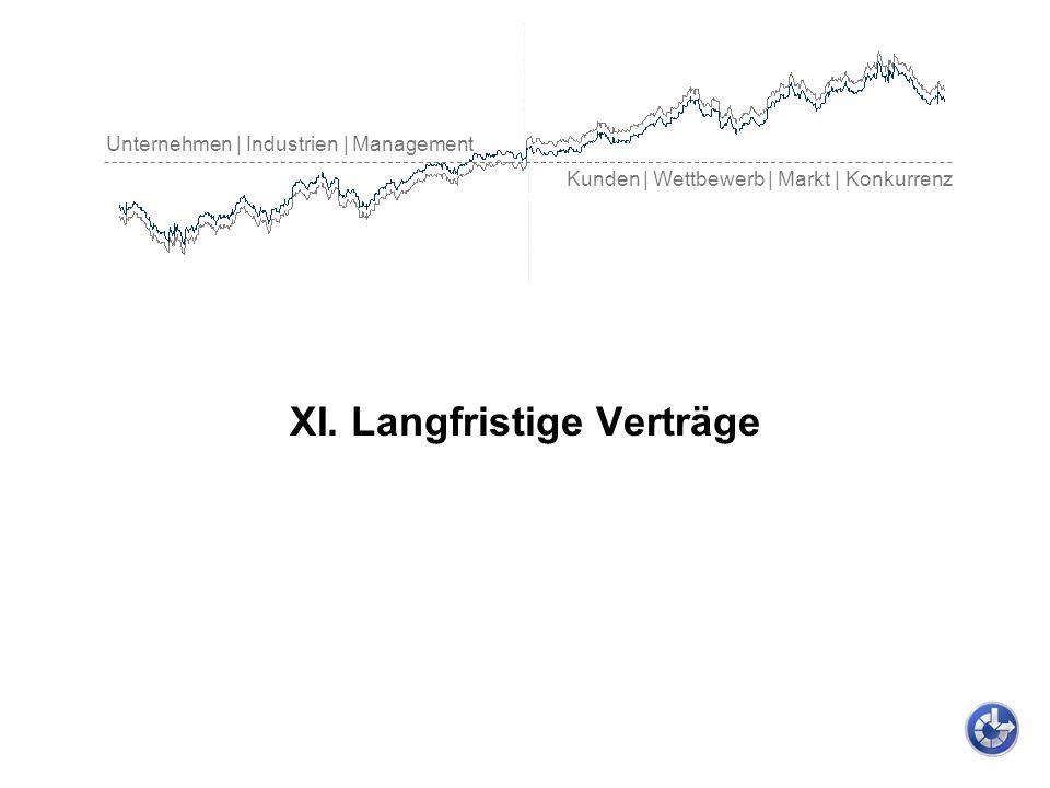 Unternehmen | Industrien | Management Kunden | Wettbewerb | Markt | Konkurrenz XI. Langfristige Verträge