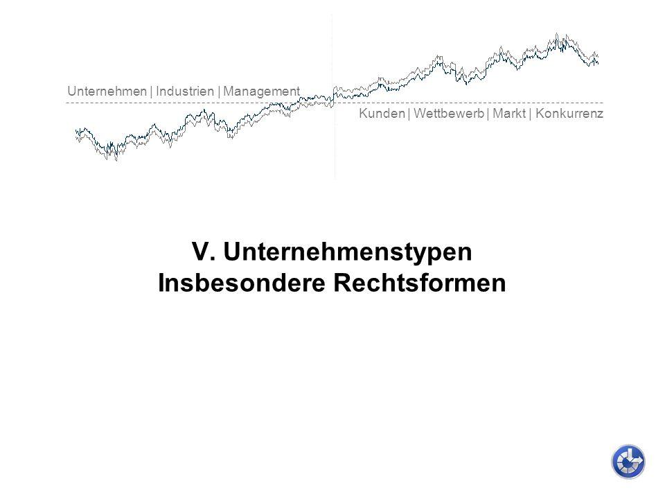 Unternehmen | Industrien | Management Kunden | Wettbewerb | Markt | Konkurrenz V. Unternehmenstypen Insbesondere Rechtsformen