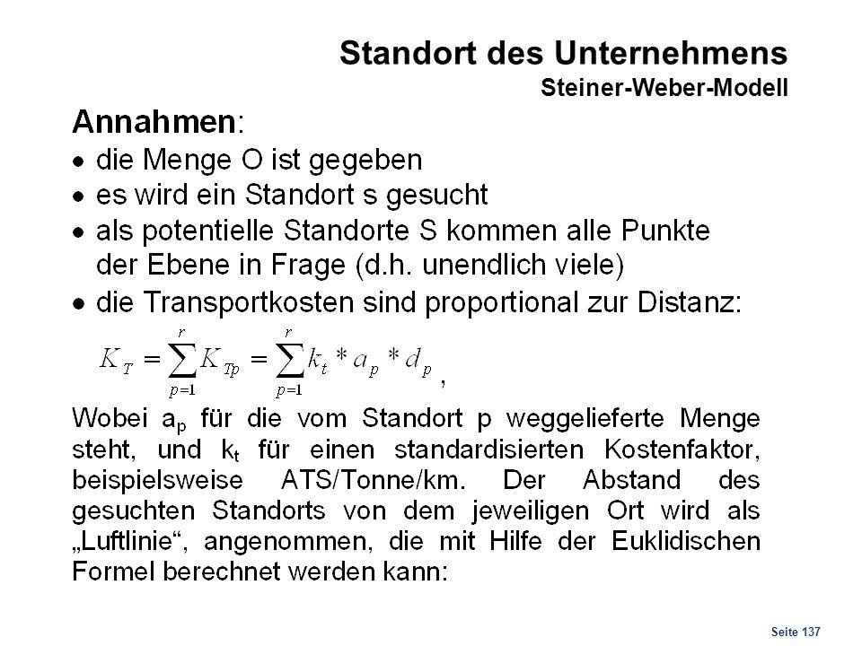 Seite 137 Standort des Unternehmens Steiner-Weber-Modell