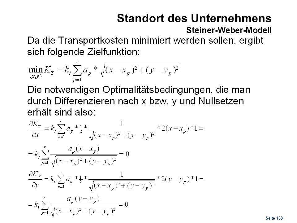 Seite 138 Standort des Unternehmens Steiner-Weber-Modell