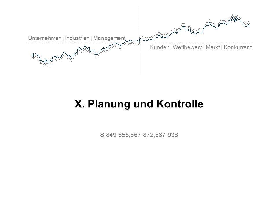 Unternehmen | Industrien | Management Kunden | Wettbewerb | Markt | Konkurrenz X. Planung und Kontrolle S.849-855,867-872,887-936