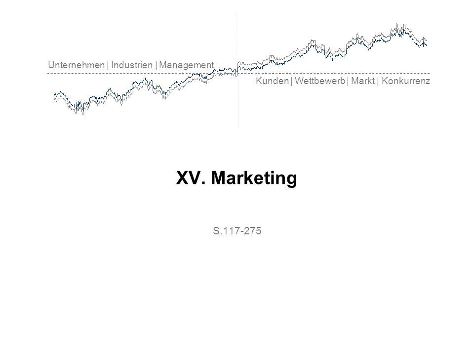 Unternehmen | Industrien | Management Kunden | Wettbewerb | Markt | Konkurrenz XV. Marketing S.117-275