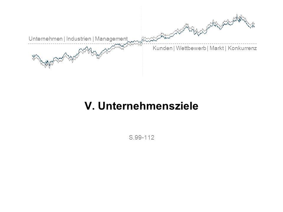Unternehmen | Industrien | Management Kunden | Wettbewerb | Markt | Konkurrenz V. Unternehmensziele S.99-112
