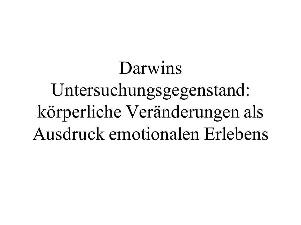 Darwins Untersuchungsgegenstand: körperliche Veränderungen als Ausdruck emotionalen Erlebens