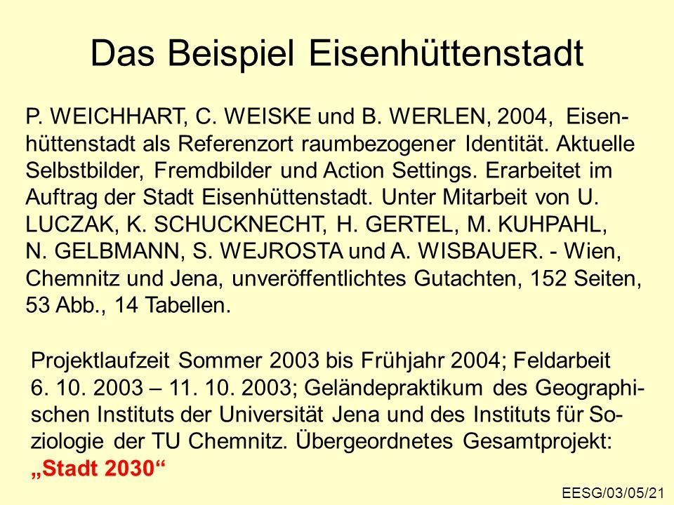 Das Beispiel Eisenhüttenstadt EESG/03/05/21 P.WEICHHART, C.