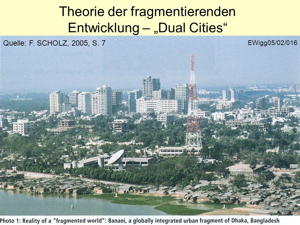 EWigg05/02/016 Theorie der fragmentierenden Entwicklung – Dual Cities Quelle: F. SCHOLZ, 2005, S. 7