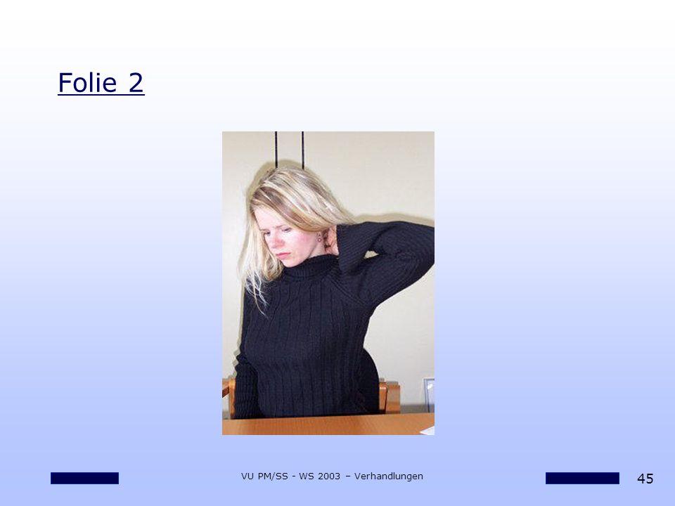 45 VU PM/SS - WS 2003 – Verhandlungen Folie 2