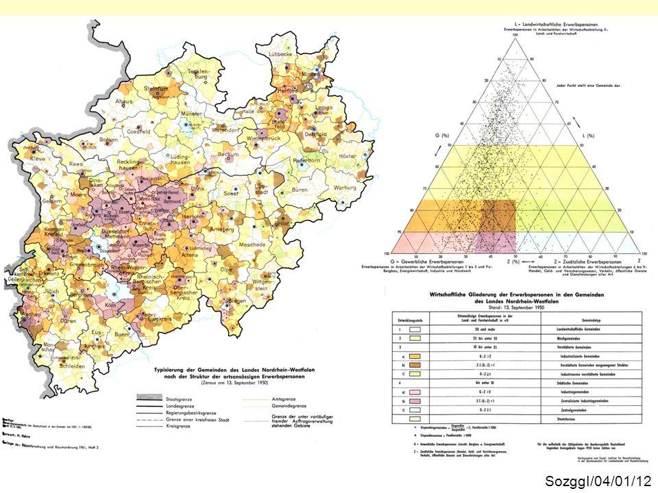 Die räumliche Verteilung der Gemeindetypen SozggI/04/01/12