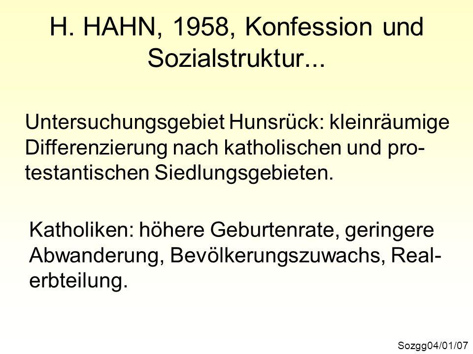 Anteil der >=60jährigen SozggI/04/01/28 Quelle: A. KAUFMANN, 1978, Kartogramm 2.4