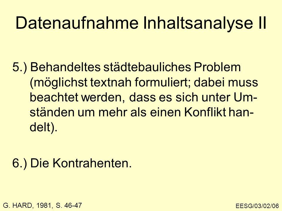 EESG/03/02/06 5.) Behandeltes städtebauliches Problem (möglichst textnah formuliert; dabei muss beachtet werden, dass es sich unter Um- ständen um meh