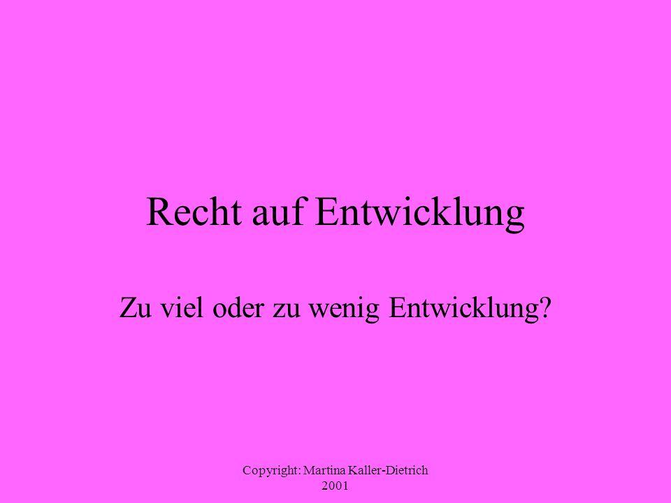 Copyright: Martina Kaller-Dietrich 2001 Skeptiker und Gegner von Entwicklung 4.