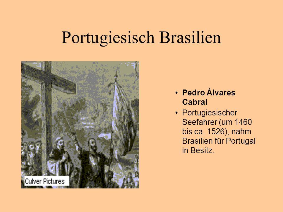 Portugiesisch Brasilien Pedro Álvares Cabral Portugiesischer Seefahrer (um 1460 bis ca. 1526), nahm Brasilien für Portugal in Besitz.