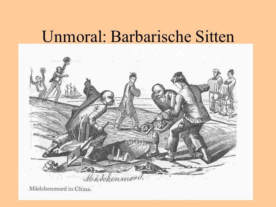 Unmoral: Barbarische Sitten