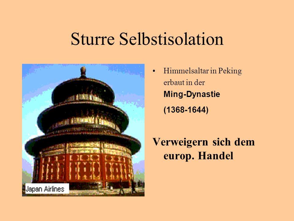 Sturre Selbstisolation Himmelsaltar in Peking erbaut in der Ming-Dynastie (1368-1644) Verweigern sich dem europ. Handel