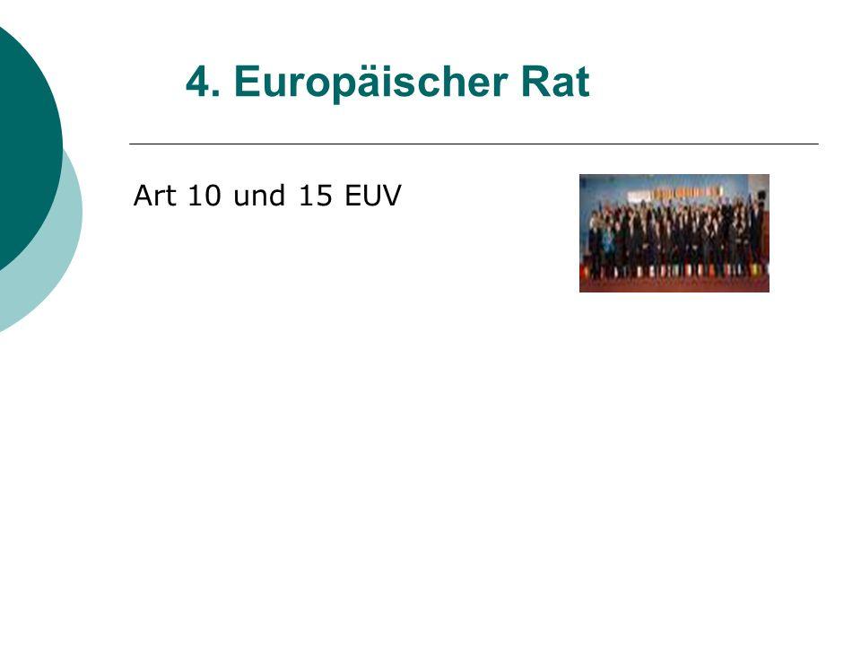 4. Europäischer Rat Art 10 und 15 EUV