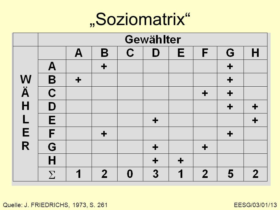 EESG/03/01/13 Soziomatrix Quelle: J. FRIEDRICHS, 1973, S. 261