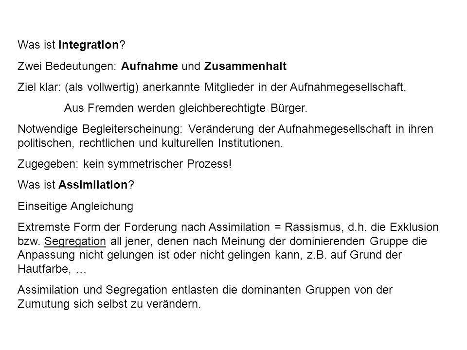 Was ist Integration.