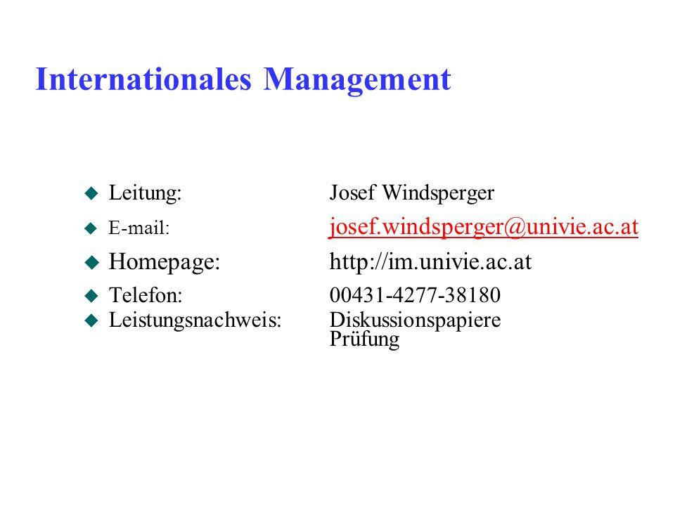 Neue Ergebnisse: Wang, Schaan (2008) (1) Netzwerke (JV) KD