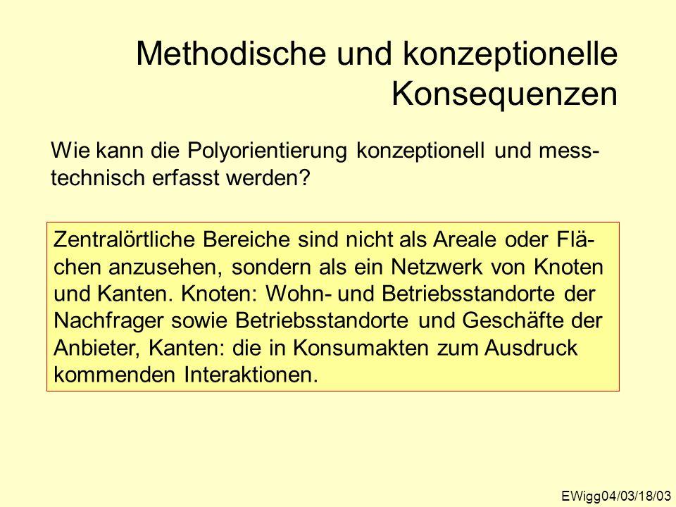 EWigg04/03/18/03 Wie kann die Polyorientierung konzeptionell und mess- technisch erfasst werden? Zentralörtliche Bereiche sind nicht als Areale oder F