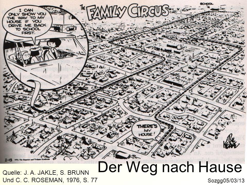 Der Weg nach Hause Sozgg05/03/13 Quelle: J. A. JAKLE, S. BRUNN Und C. C. ROSEMAN, 1976, S. 77