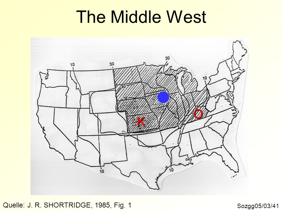 The Middle West Sozgg05/03/41 O K Quelle: J. R. SHORTRIDGE, 1985, Fig. 1