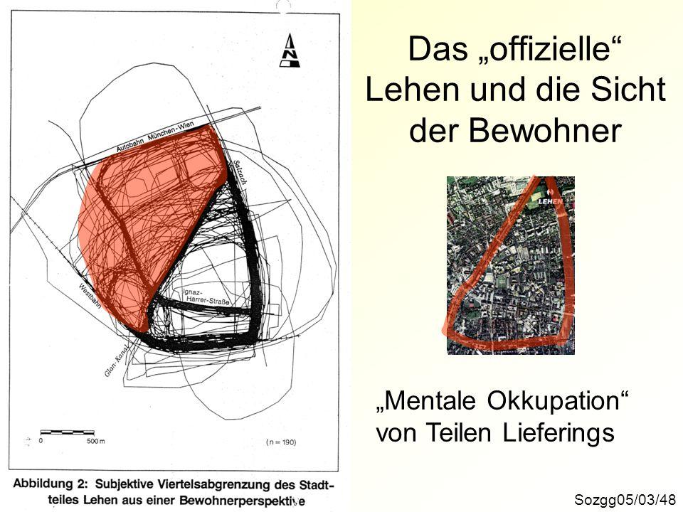 Sozgg05/03/48 Das offizielle Lehen und die Sicht der Bewohner Mentale Okkupation von Teilen Lieferings