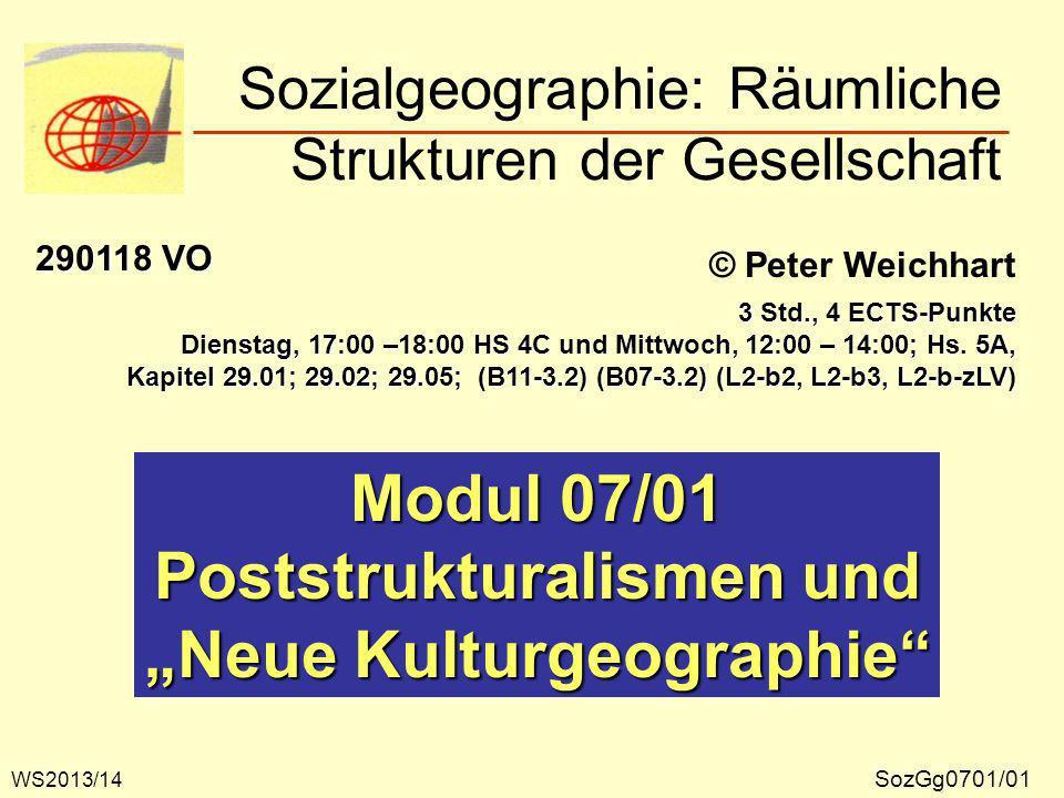 Poststrukturalismen in der Geographie N.GELBMANN und G.