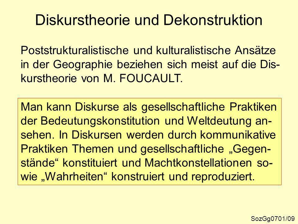 Unter Dekonstruktion versteht man meist eine Art Ideologiekritik, bei der die Konstitutionsbedin- gungen von Diskursen aufgedeckt werden.