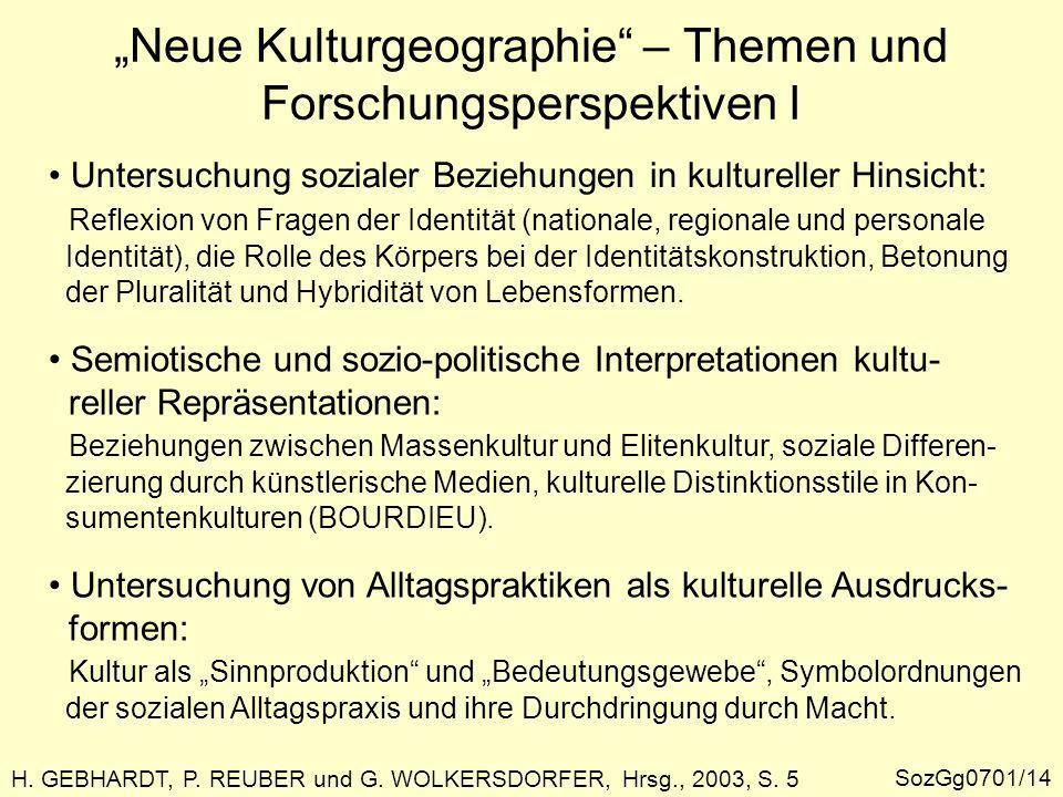 H.GEBHARDT, P. REUBER und G. WOLKERSDORFER, Hrsg., 2003, S.