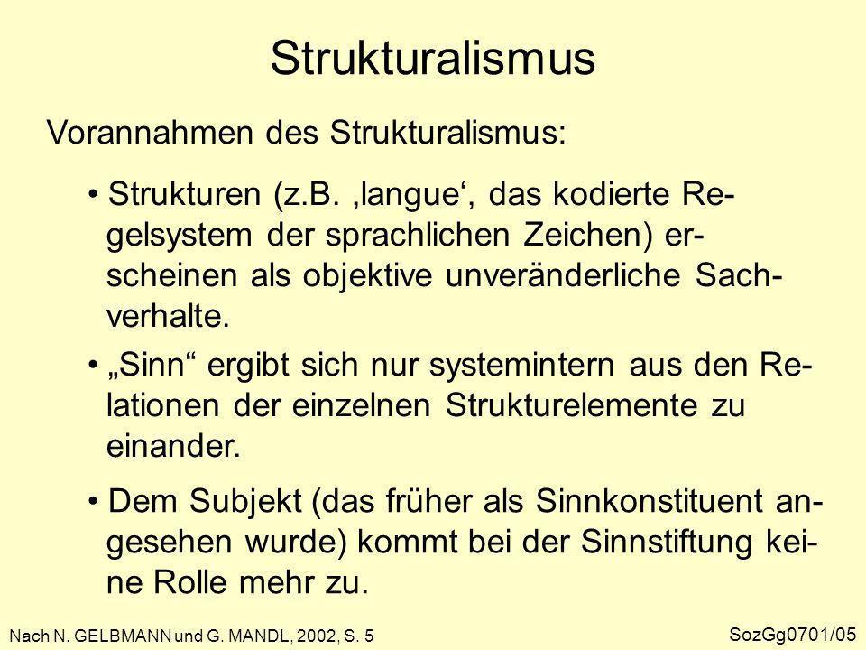 Poststrukturalismus Nach N.GELBMANN und G. MANDL, 2002, S.