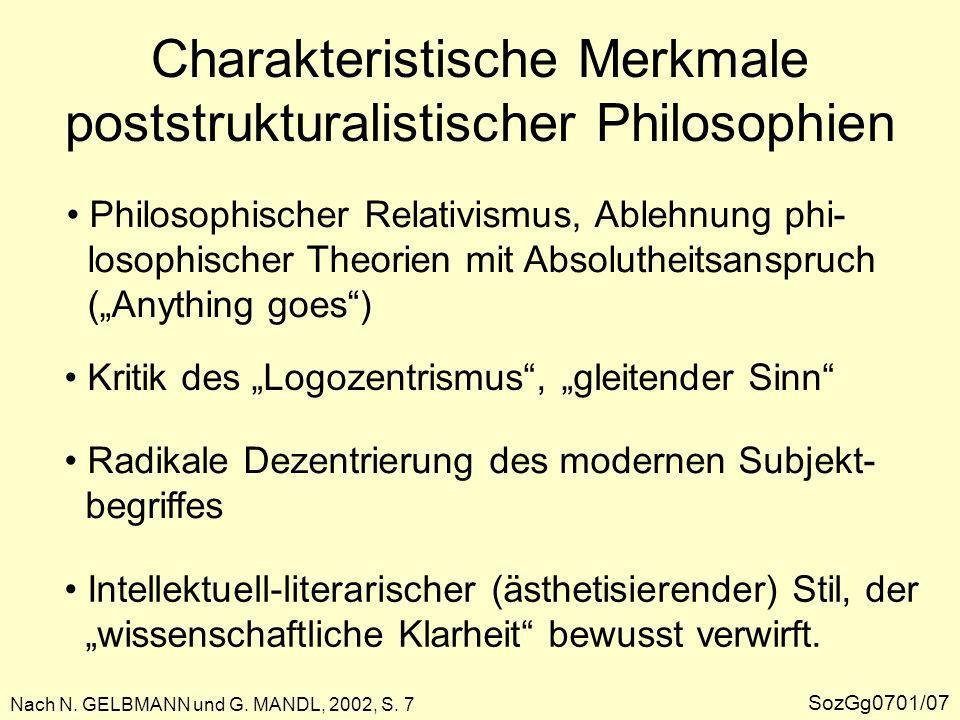 Die Rezeption des Poststrukturalismus in der Geographie GKPD/04/02b/17b Nach N.