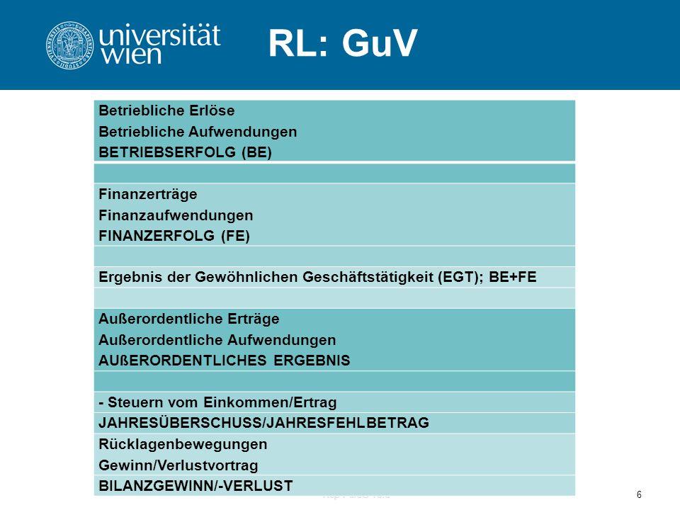 RL: GuV Rep PersG Told6 Betriebliche Erlöse Betriebliche Aufwendungen BETRIEBSERFOLG (BE) Finanzerträge Finanzaufwendungen FINANZERFOLG (FE) Ergebnis