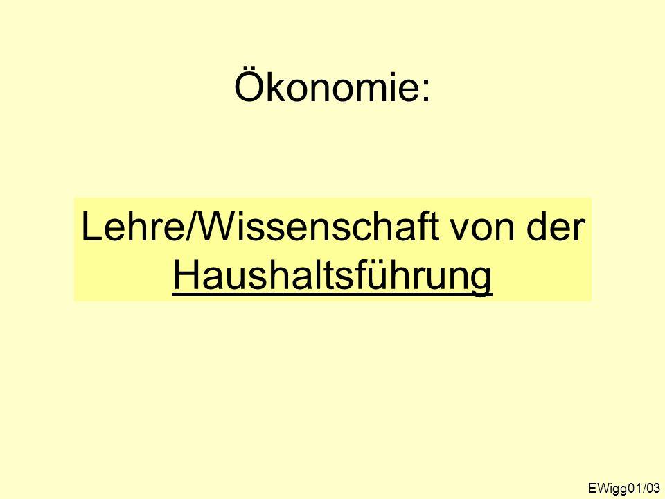 Wissenschaftliche Zugänge zum Phänomen Wirtschaft EWigg01/04 WIRTSCHAFTLICHEPHÄNOMENEWIRTSCHAFTLICHEPHÄNOMENE andere Politologie etc.
