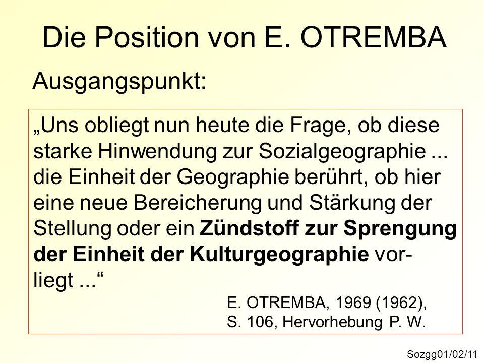 Die Position von E.