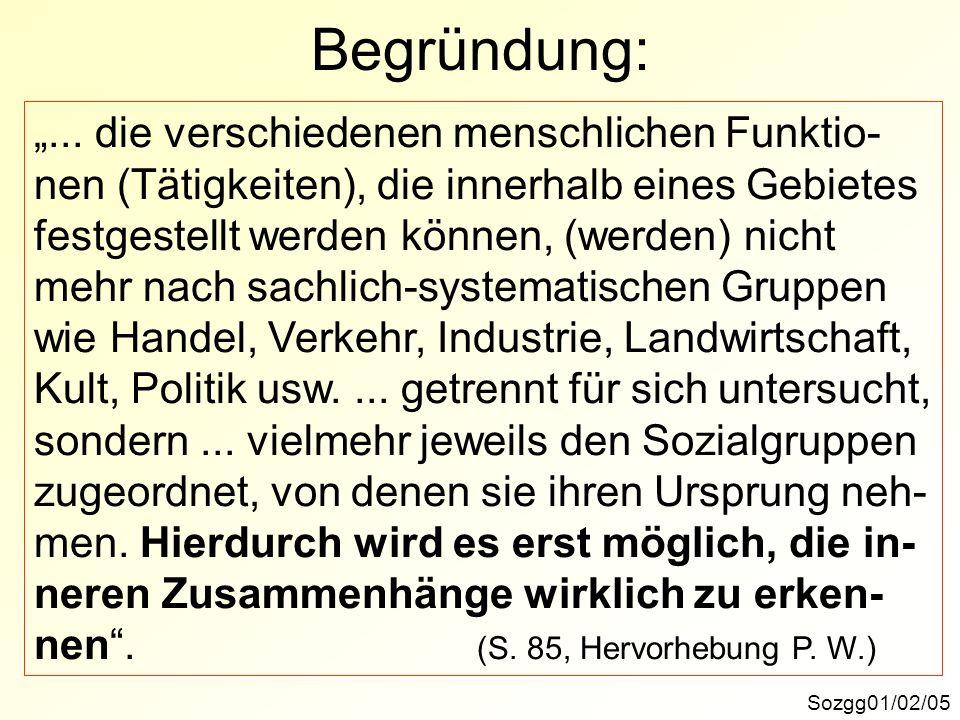 Begründung: Sozgg01/02/05... die verschiedenen menschlichen Funktio- nen (Tätigkeiten), die innerhalb eines Gebietes festgestellt werden können, (werd