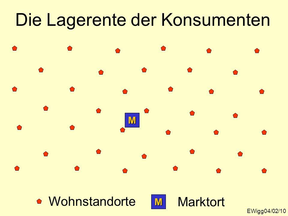 Die Lagerente der Konsumenten EWigg04/02/10 M Wohnstandorte M Marktort