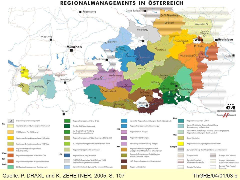 Regionale Entwicklungsplanung auf der Suche nach ihrem politischen Raum ThGRE/04/01/04 Eine Nutzung regionaler Netzwerke im Sin- ne von New Industrial Districts ist nur erreich- bar, wenn parallel zu solchen Strukturen der sozioökonomischen Praxis auch eine funkti- onsfähige territoriale Struktur existiert.