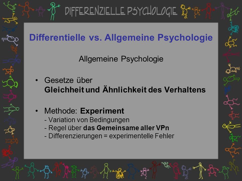 Differentielle vs.