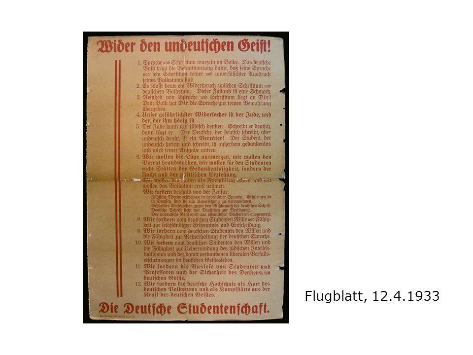 Flugblatt, 12.4.1933