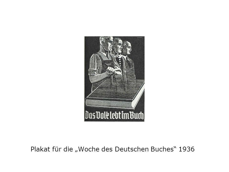 Plakat für die Woche des Deutschen Buches 1936